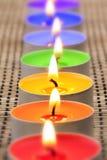 świeczki ja tęcza Zdjęcia Royalty Free