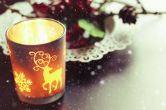 Świeczki jagody gałąź Obraz Royalty Free