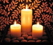 świeczki kamień Zdjęcia Stock