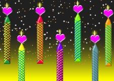 świeczki miłość Zdjęcie Stock