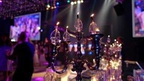 Świeczki na candlestick dla partyjnej miękkiej ostrości Hd wideo zbiory