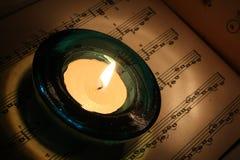 świeczki notatka stara księgowa Obrazy Stock