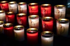 Świeczki Notre-Dame katedra zdjęcie stock
