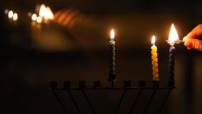 świeczki odizolowywali biel zbiory wideo