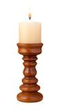 świeczki płomienia właściciel odizolowywający Fotografia Royalty Free