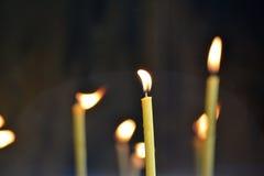 Świeczki płomienie Obraz Stock