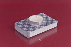 świeczki pokładu tarot Zdjęcia Stock