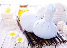 świeczki przedmiotów papierowego zdroju ręcznika obraz stock