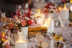 świeczki stół zdjęcie stock