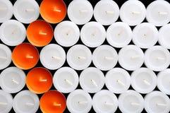 świeczki strzałkowata pomarańcze Obraz Royalty Free
