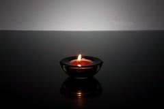 świeczki szklana właściciela światła herbata Obrazy Stock