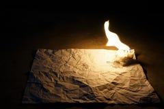 Świeczki sztuka na białym papierze 3 Zdjęcia Royalty Free