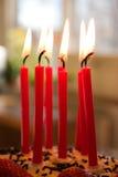 świeczki urodzinowe obraz royalty free