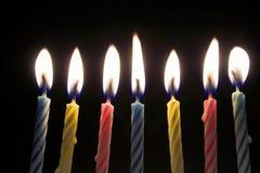 świeczki urodzinowe zdjęcia royalty free