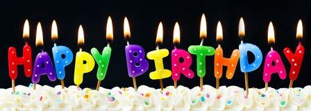 świeczki urodzinowe szczęśliwe Zdjęcia Stock