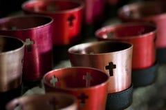 Świeczki w Chrześcijańskim monasterze zdjęcie royalty free
