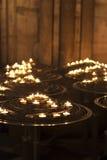Świeczki w kościół katolickim Obrazy Royalty Free