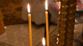 Świeczki w Ortodoksalnym chirch zbiory