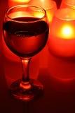 świeczki wineglass fotografia royalty free