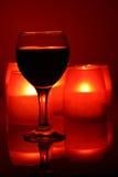 świeczki wineglass obrazy royalty free