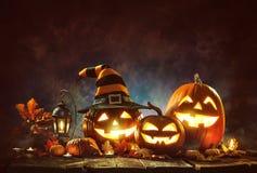 Świeczki Zaświecać Halloweenowe banie zdjęcia stock