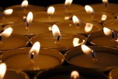 świeczki zaświecają herbaty Zdjęcia Royalty Free