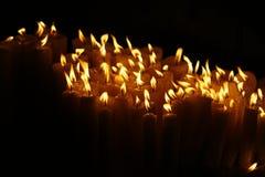świeczki zaświecają modlitwę Zdjęcie Royalty Free