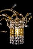 Świeczników szczegóły dla nowożytnego wnętrza krystaliczny świecznik dla korytarza, żywego pokoju lub sypialni, Odizolowywający n Zdjęcia Royalty Free