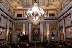 Świecznik Tursi pałac recepcyjny pokój, genua obraz stock