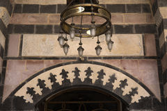 Świecznik w Tahtani meczecie, Gaziantep Zdjęcia Royalty Free