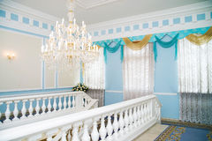 Świecznik w wnętrzu, luksusowy wnętrze, rocznik, retro Zdjęcia Royalty Free