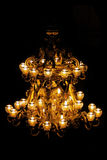 świecznik złoty Obraz Royalty Free