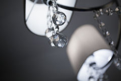 Świecznik z rżniętym szkłem Zdjęcia Royalty Free