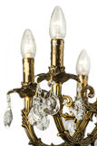 Świecznika światło w wnętrzu, Chrystal świecznika zakończenie krystaliczna część od świecznika, świecznik, oświetlenie, wyposażen Obraz Stock