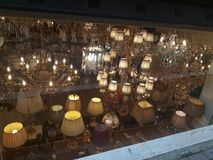Świecznika & abażurka sklep w Beyoglu Istanbuł obraz stock