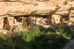 Świerkowy Drzewny dom przy mesy Verde parkiem narodowym obrazy royalty free