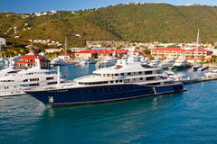 świetlicowy marina st Thomas jacht obraz royalty free