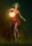 Świetlik lampa, 3d Komputerowe grafika Zdjęcia Stock