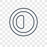 Świetlistości opcji pojęcia wektorowa liniowa ikona odizolowywająca na transpa ilustracja wektor