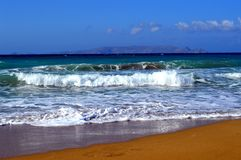 Świetna piasek plaża Zdjęcie Royalty Free