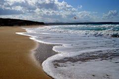 Świetna piasek plaża Zdjęcie Stock