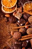 Świetne czekolady, dokrętki i pikantność, Zdjęcia Stock