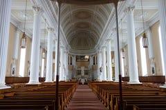 Świetnie zaświecający kościół Obraz Royalty Free
