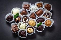 Świetny czekolada asortyment obraz royalty free