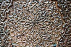 Świetny drewniany cyzelowanie projekt, dekoracja i Obraz Royalty Free