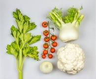 Świezi Śródziemnomorscy warzywa Obraz Stock