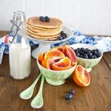 Świezi bliny dla śniadania Zdjęcie Stock