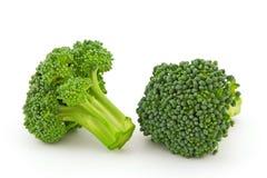 Świezi brokuły odizolowywający na biały tle Obraz Royalty Free