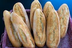 Świezi chleby świeżo piec fotografia stock