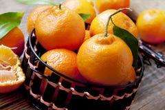 Świezi Clementines zdjęcie stock
